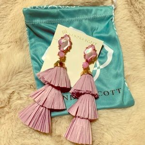 Kendra Scott Lilac Denise Tassel earrings